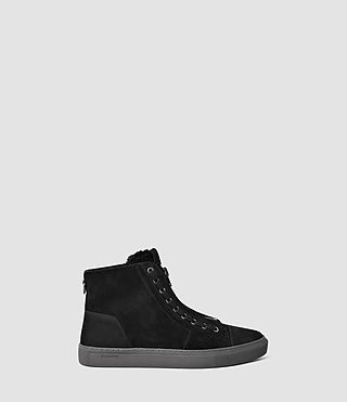 Hombres Tracker Shearling Hi Top (Black)
