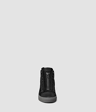 Hombres Tracker Shearling Hi Top (Black) - product_image_alt_text_2