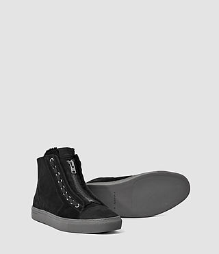 Hombres Tracker Shearling Hi Top (Black) - product_image_alt_text_3