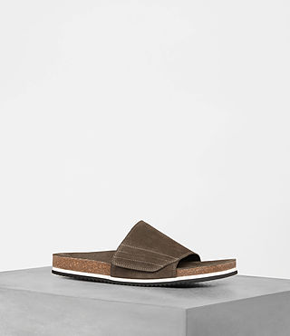 Mens Pan Suede Slider (Khaki Brown) - product_image_alt_text_1