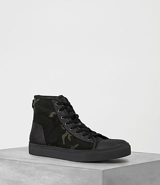 Mens Camo Point Hi-top Sneaker (CAMO BLACK)