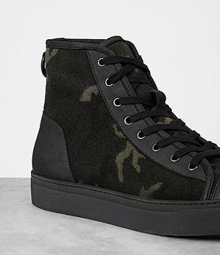 Mens Camo Point Hi-top Sneaker (CAMO BLACK) - product_image_alt_text_2