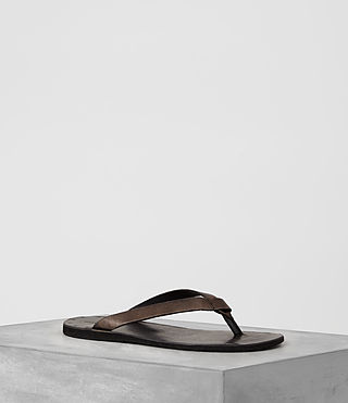 Hombres Reef Leather Sandal (Bitter Brown)
