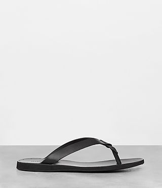 Mens Reef Leather Sandal (Black) - product_image_alt_text_3
