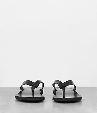 Mens Reef Leather Sandal (Black) - product_image_alt_text_4