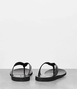 Mens Reef Leather Sandal (Black) - product_image_alt_text_5