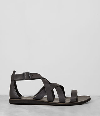Mens Atlas Leather Sandal (Charcoal) - product_image_alt_text_4