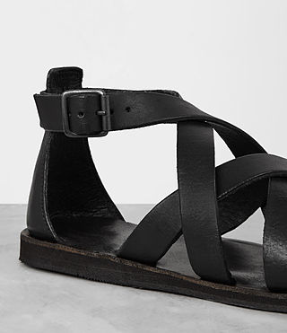 Mens Atlas Leather Sandal (Black) - product_image_alt_text_2