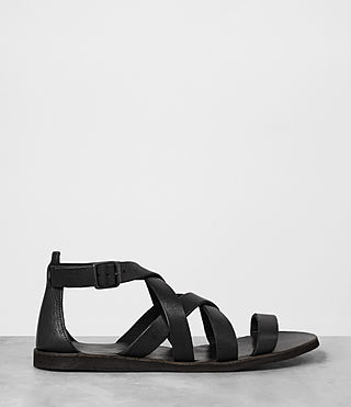 Uomo Atlas Leather Sandal (Black) - product_image_alt_text_4