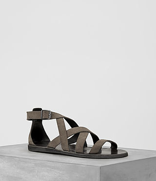 Uomo Atlas Leather Sandal (Taupe)