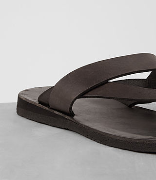 Mens Flax Leather Sandal (Bitter Brown) - product_image_alt_text_2