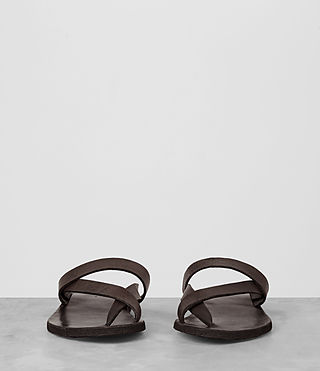 Mens Flax Leather Sandal (Bitter Brown) - product_image_alt_text_3