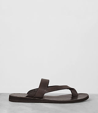 Mens Flax Leather Sandal (Bitter Brown) - product_image_alt_text_4