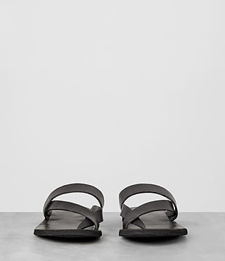 Mens Flax Leather Sandal (Charcoal) - product_image_alt_text_3