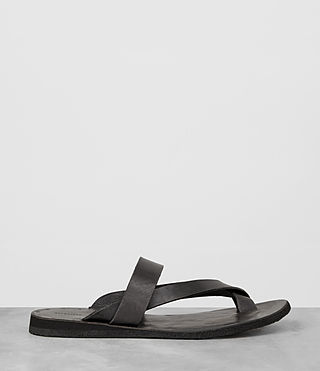 Mens Flax Leather Sandal (Charcoal) - product_image_alt_text_4