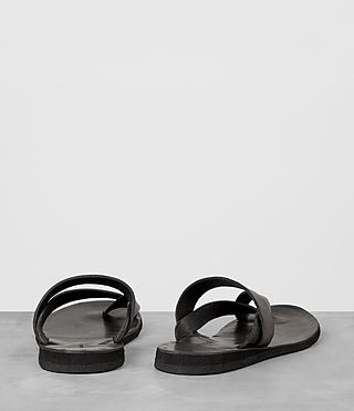 Mens Flax Leather Sandal (Charcoal) - product_image_alt_text_5