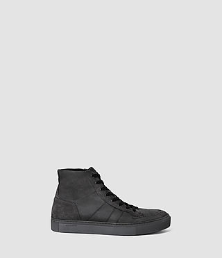 Mens Pact Hi-top Sneaker (Washed Black) - product_image_alt_text_1
