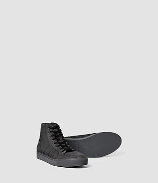 Mens Pact Hi-top Sneaker (Washed Black) - product_image_alt_text_3
