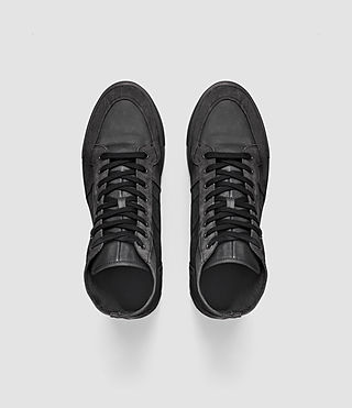 Mens Pact Hi-top Sneaker (Washed Black) - product_image_alt_text_4