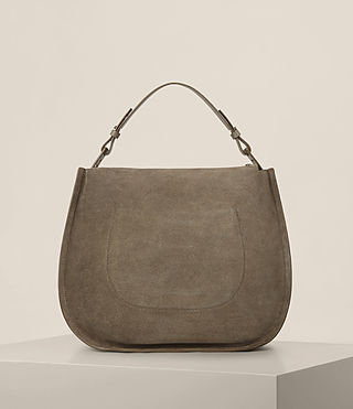 Womens Kanda Suede Hobo Bag (MINK GREY) - product_image_alt_text_7