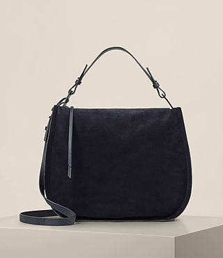 Womens Kanda Suede Hobo Bag (Dark Blue)