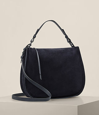 Womens Kanda Suede Hobo Bag (Dark Blue) - product_image_alt_text_4