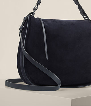 Womens Kanda Suede Hobo Bag (Dark Blue) - product_image_alt_text_5