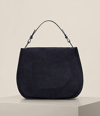 Womens Kanda Suede Hobo Bag (Dark Blue) - product_image_alt_text_7