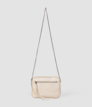 Womens Fleur De Lis Chain Crossbody (Cream) - product_image_alt_text_1