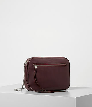 Women's Fleur De Lis Crossbody (Burgundy) - product_image_alt_text_3