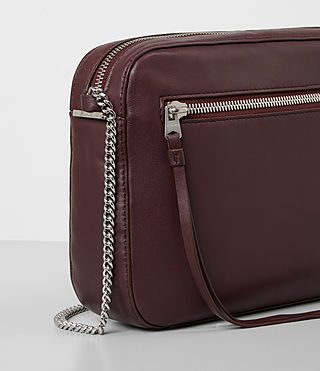 Women's Fleur De Lis Crossbody (Burgundy) - product_image_alt_text_4