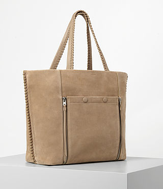 Women's Fleur De Lis East West Tote (Sand) - product_image_alt_text_3