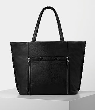Womens Fleur De Lis East West Tote (Black) - product_image_alt_text_1