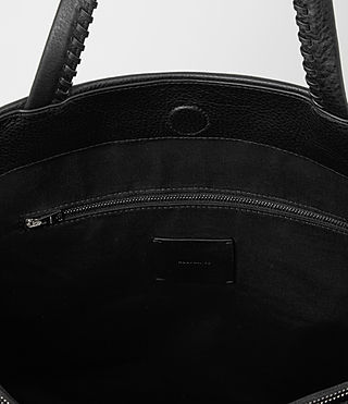 Damen Fleur De Lis East West Tote (Black) - product_image_alt_text_5