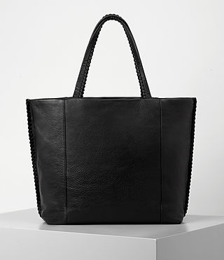 Women's Fleur De Lis East West Tote (Black) - product_image_alt_text_6