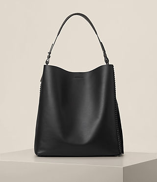 Womens Pearl Hobo Bag (BLK/DK GR/PTRL BLU)