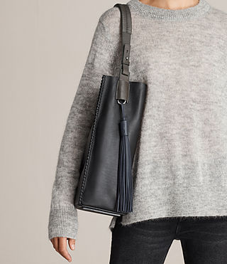 Womens Pearl Hobo Bag (BLK/DK GR/PTRL BLU) - product_image_alt_text_2