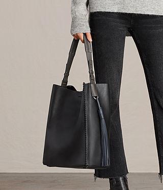 Womens Pearl Hobo Bag (BLK/DK GR/PTRL BLU) - product_image_alt_text_3