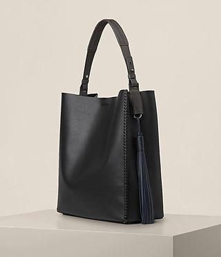 Womens Pearl Hobo Bag (BLK/DK GR/PTRL BLU) - product_image_alt_text_5