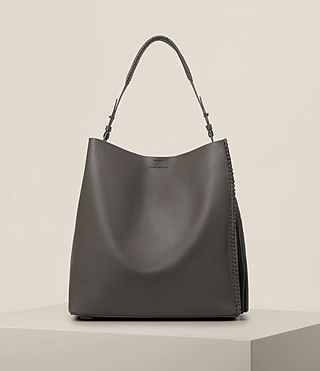 Womens Pearl Hobo Bag (Dark Grey)