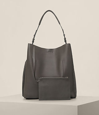 Womens Pearl Hobo Bag (Dark Grey) - product_image_alt_text_5