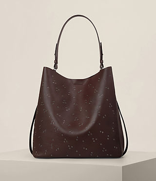 Mujer Junai North South Tote (PRUNE) - product_image_alt_text_1
