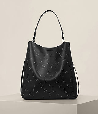 Womens Junai North South Tote (Black)