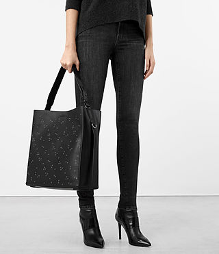 Damen Junai North South Tote (Black) - product_image_alt_text_2
