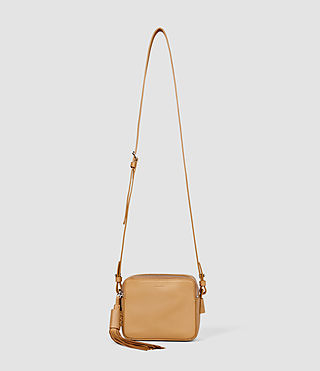 Womens Pearl Mini Camera Ba (LIGHT CARAMEL)