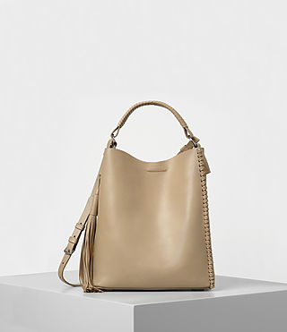 Womens Pearl Mini Hobo Bag (Sand)