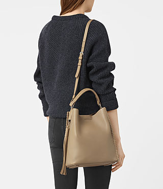 Women's Pearl Mini Hobo Bag (Sand) - product_image_alt_text_2