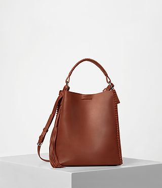 Mujer Pearl Mini Hobo (BRICK BROWN) -
