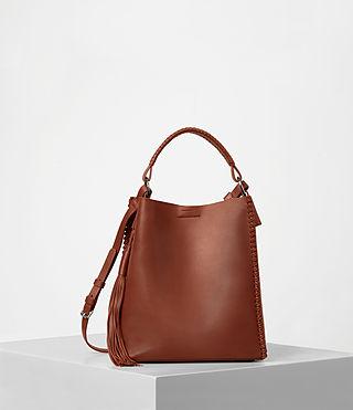 Women's Pearl Mini Hobo Bag (BRICK BROWN) -