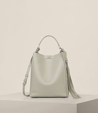 Womens Pearl Mini Hobo Bag (LIGHT CEMENT GREY) - Image 1